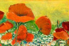 Mohnblumen - Acryl auf Leinwand - 50/100 cm - 2008