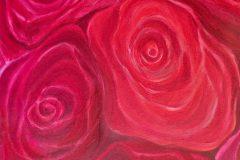 Rosen - Acryl auf Leinwand - 70/50 cm - 1998