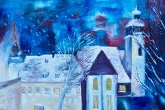 Weihnachtsabend in Bad Steben - Acryl auf Leinwand - 120/160 cm - 2017