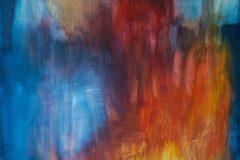 Feuer und Eis II - Feinschicht-Aquarell - 80/60 cm - 2018