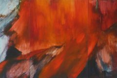 Eruption (dreiteilig) - Feinschicht-Aquarell auf Malplatte - 80/180 cm - 2018