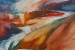 Wasserspiele - Feinschicht-Aquarell auf Malplatte - 80/60 cm - 2018